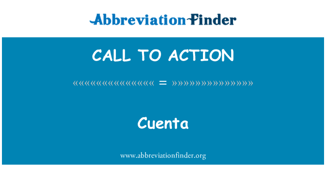 CALL TO ACTION: Cuenta