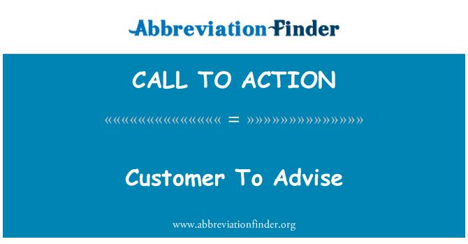 CALL TO ACTION: Pelanggan untuk menyarankan