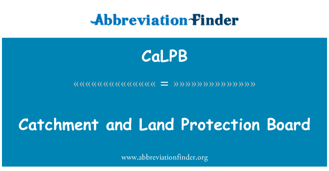 CaLPB: Catchment and Land Protection Board
