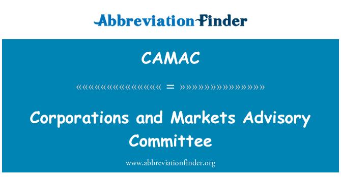 CAMAC: Comité Asesor de las empresas y los mercados