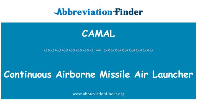 CAMAL: Continuous Airborne Missile Air Launcher