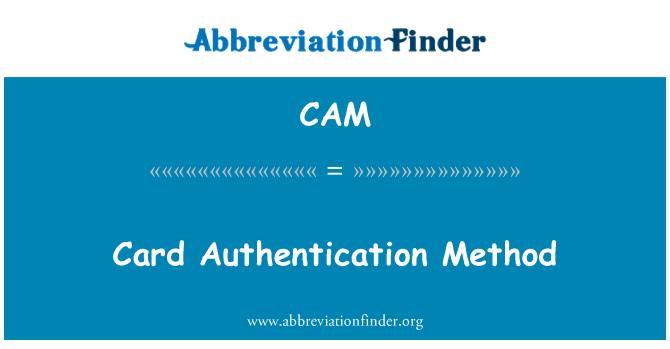 CAM: Método de autenticación de la tarjeta