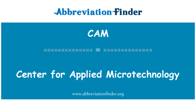 CAM: Center for Applied Microtechnology