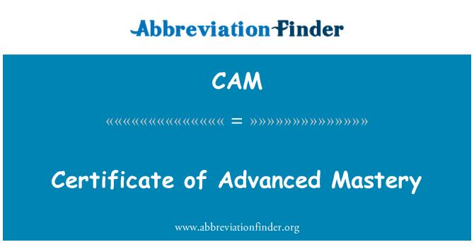 CAM: Certificado de dominio avanzado