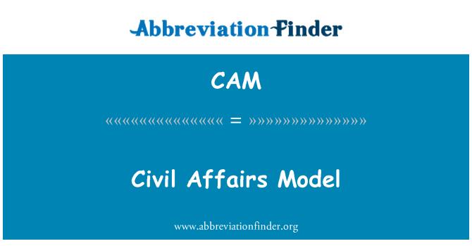 CAM: Civil Affairs Model