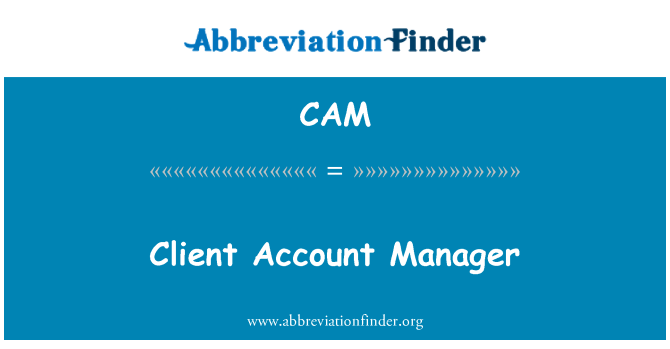 CAM: Client Account Manager