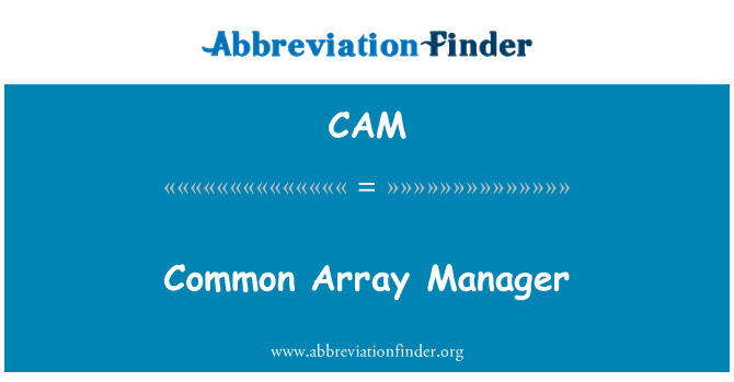 CAM: Common Array Manager