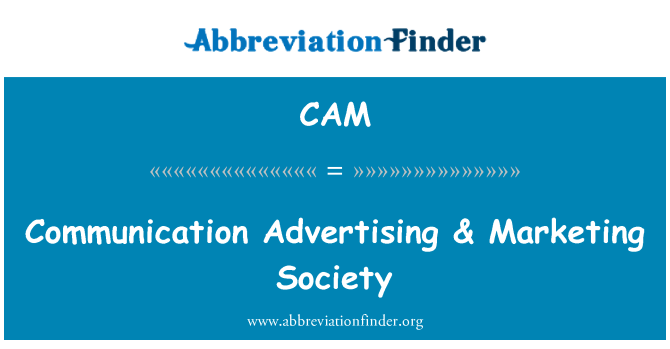 CAM: Comunicación publicidad & sociedad de Marketing