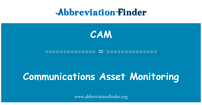 CAM: Communications Asset Monitoring