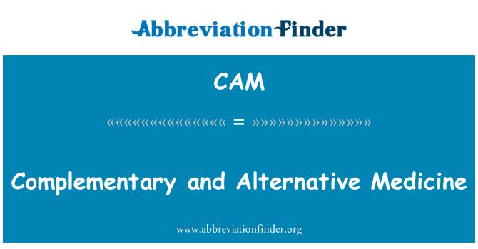 CAM: Medicina complementaria y alternativa