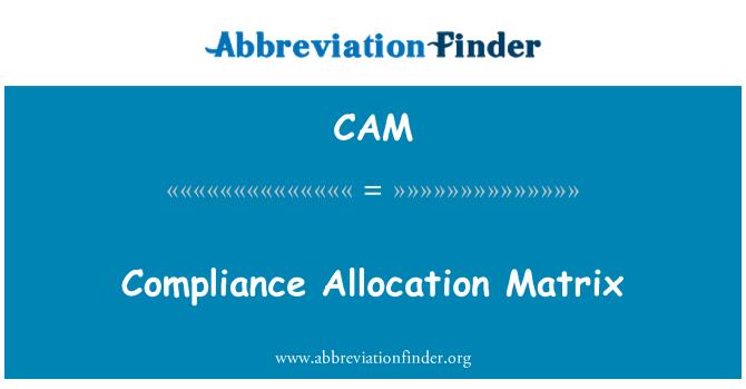 CAM: Compliance Allocation Matrix