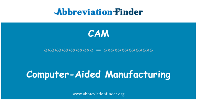 CAM: Fabricación asistida por computadora