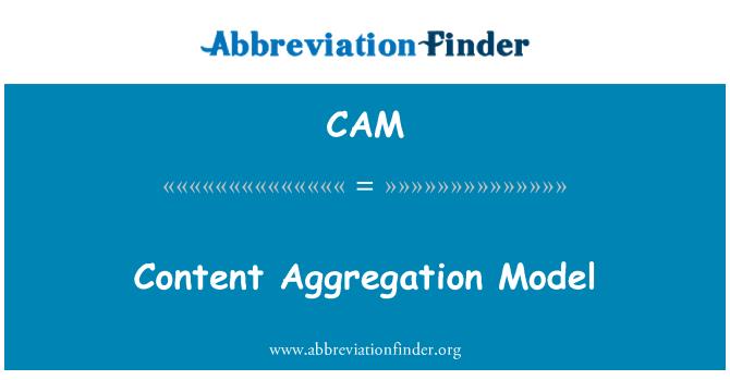 CAM: Content Aggregation Model