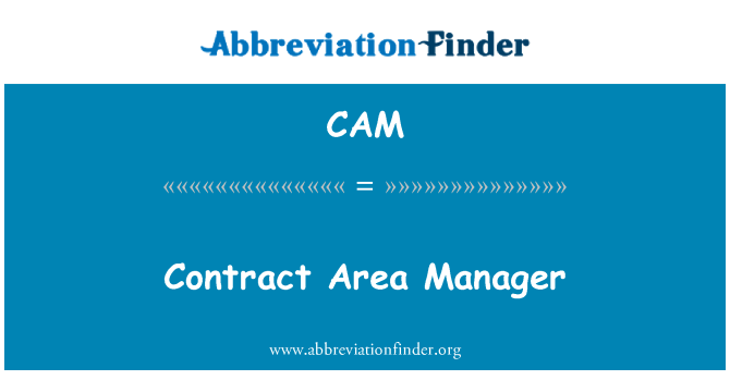 CAM: Contract Area Manager