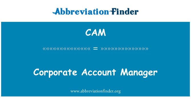 CAM: Corporate Account Manager