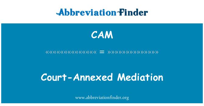 CAM: Mediación corte-anexo