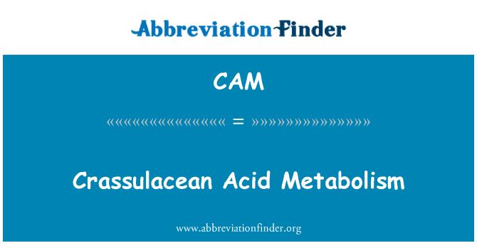 CAM: Metabolismo ácido de las crasuláceas