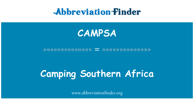 CAMPSA: Camping Southern Africa
