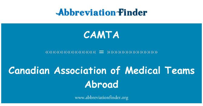 CAMTA: Canadian Association of Medical Teams Abroad