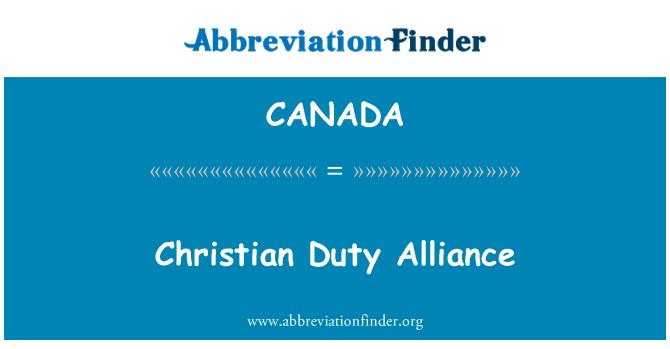 CANADA: Krikščionių pareiga Aljansas