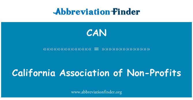 CAN: California Association of sin fines de lucro