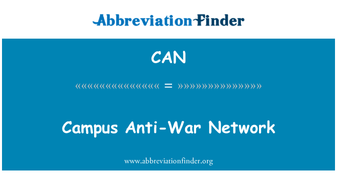 CAN: Campus Anti-War Network