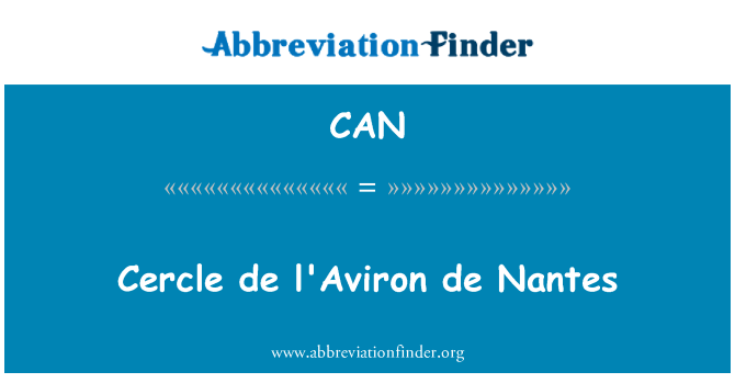 CAN: Cercle de l'Aviron de Nantes