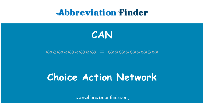 CAN: Choice Action Network