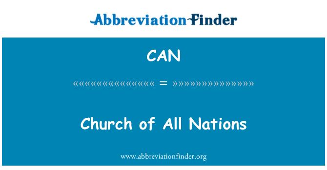 CAN: Iglesia de todas Naciones