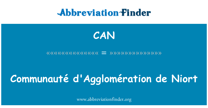 CAN: Communauté d'Agglomération de Niort