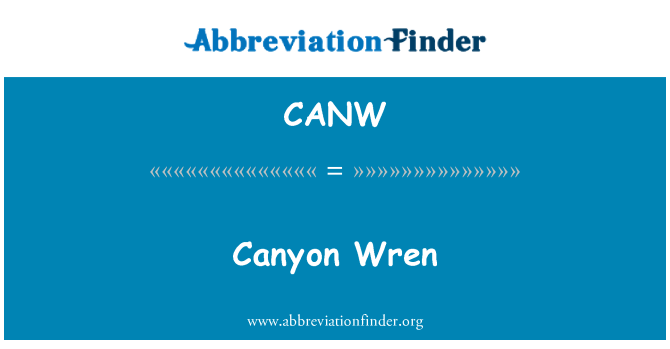 CANW: Canyon Wren