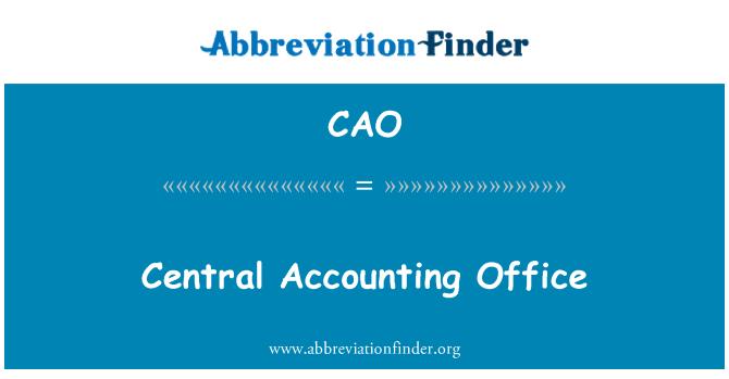 CAO: Oficina central de contabilidad