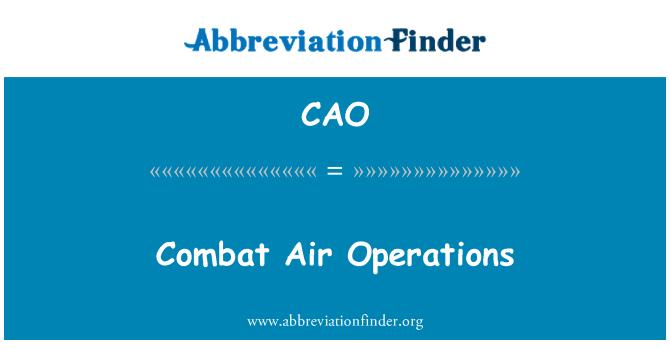 CAO: Las operaciones aéreas de combate