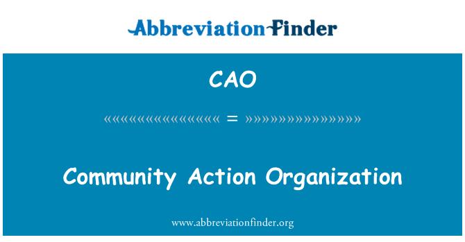 CAO: Organización de acción comunitaria