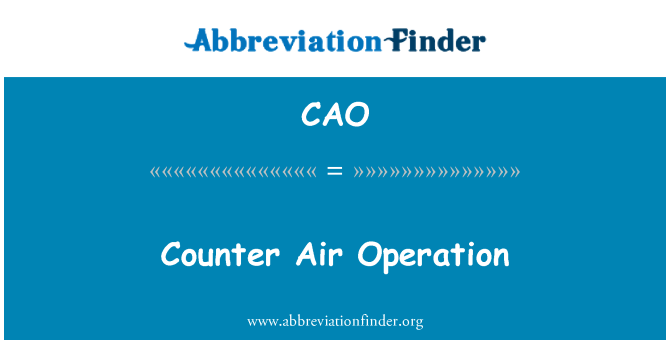 CAO: Counter Air Operation