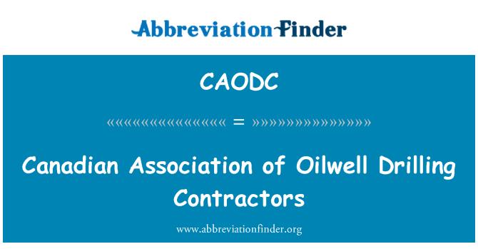 CAODC: 加拿大油井钻井承包商协会