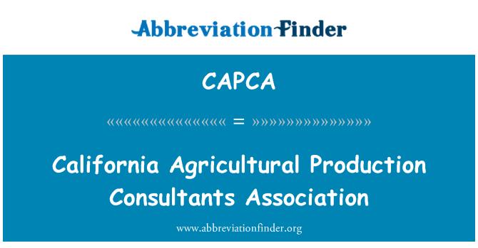 CAPCA: California Agricultural Production Consultants Association