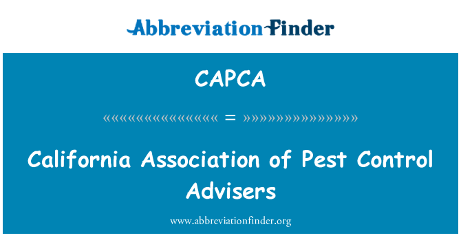 CAPCA: California Association of Pest Control Advisers