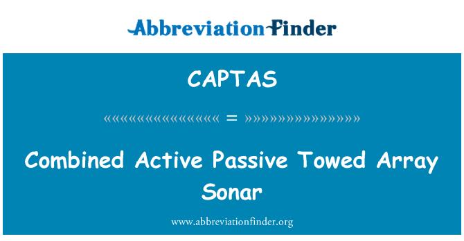 CAPTAS: Combined Active Passive Towed Array Sonar