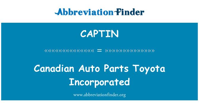 CAPTIN: Canadiense Auto partes Toyota incorporado