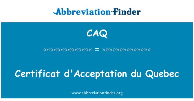 CAQ: 认证计划魁北克