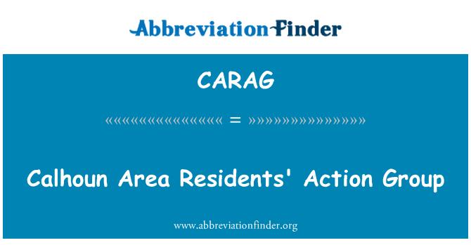 CARAG: Grupo de acción de los residentes del área de Calhoun