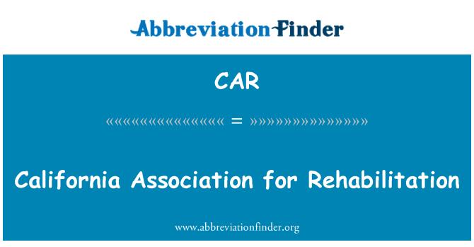 CAR: Asociación de California para rehabilitación