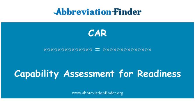 CAR: Evaluación de la capacidad para la preparación