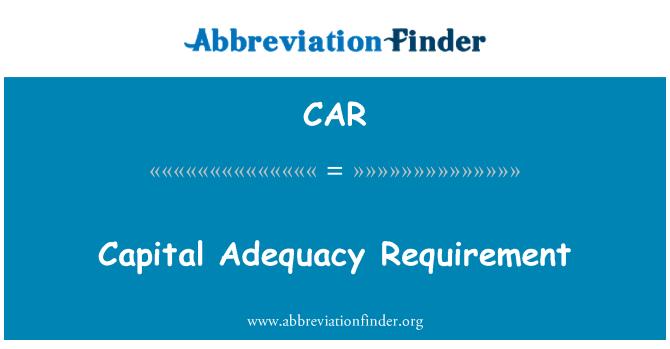 CAR: Requisito de suficiencia de capital