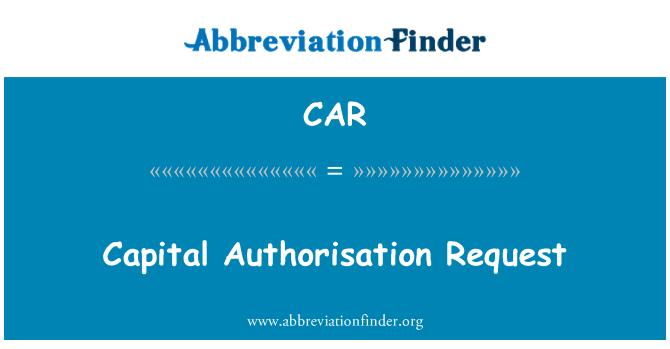 CAR: Solicitud de autorización de capital