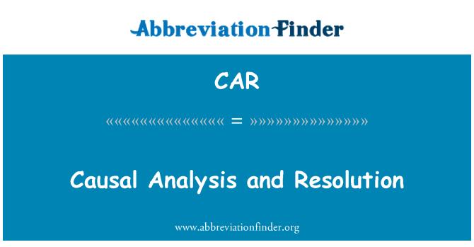 CAR: Resolución y análisis causal