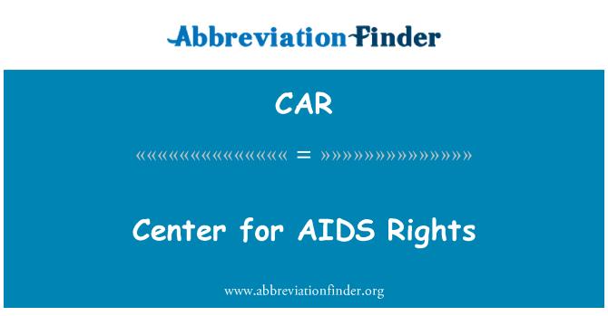 CAR: Centro para los derechos de SIDA