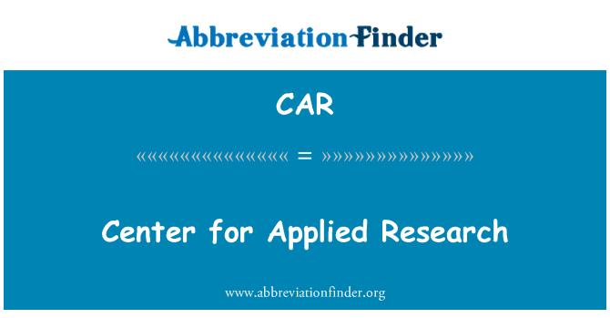 CAR: Centro para la investigación aplicada