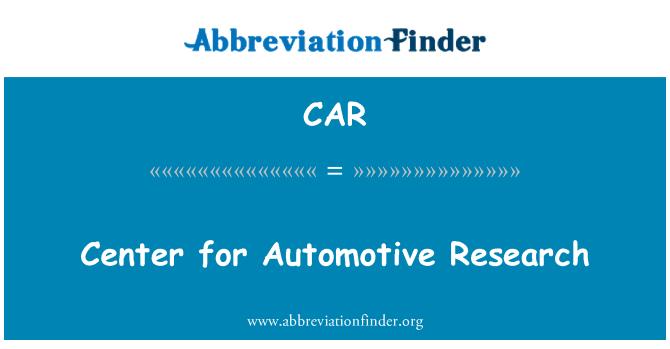 CAR: Centro de investigación automotriz